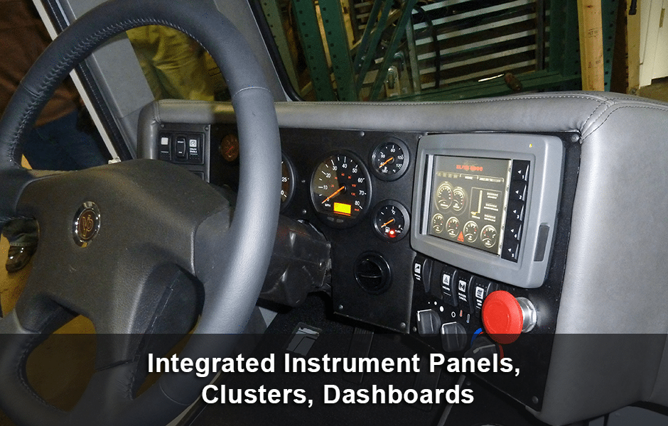 Integrated Instrument Panels Clusters Dashboard